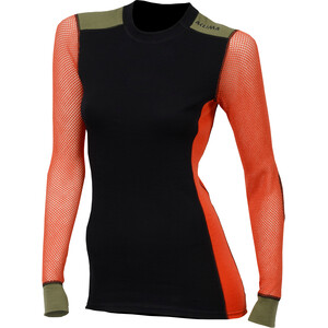 Aclima Woolnet Hiking Crew Neck Shirt Dam svart/orange svart/orange