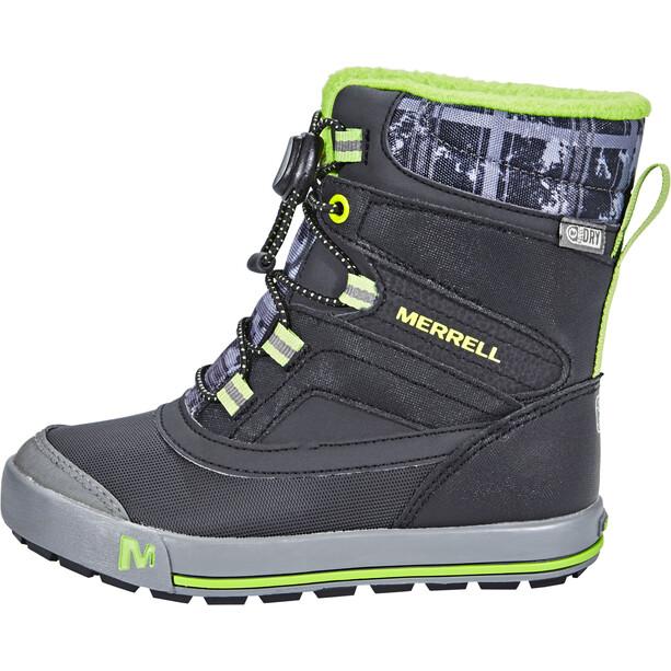 Merrell Snow Bank 2.0 Waterproof Stiefel Kinder black/grey/green