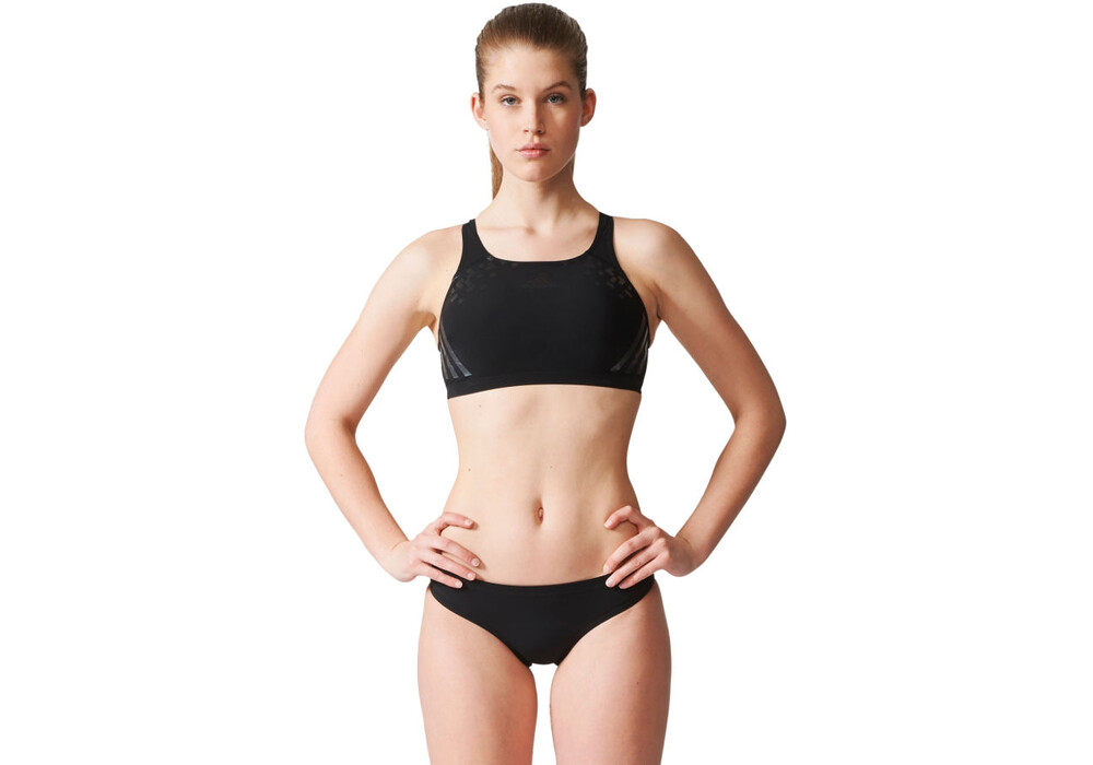adidas reg swim infm bikini set women black matte silver. Black Bedroom Furniture Sets. Home Design Ideas