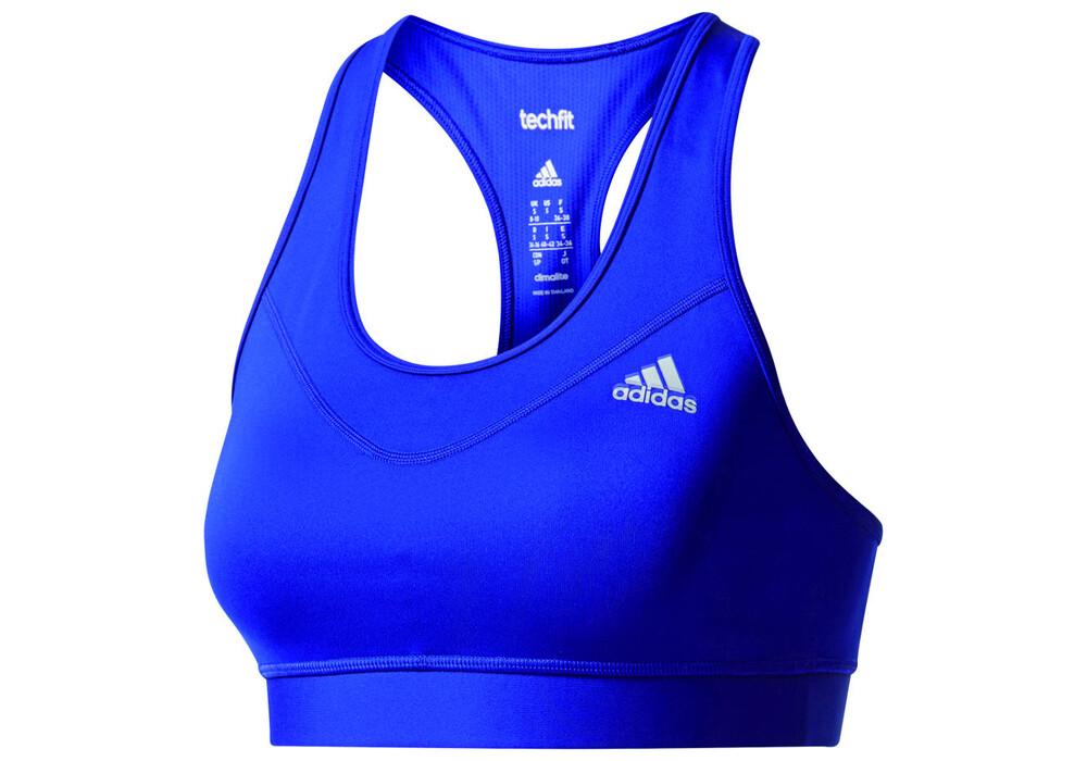 adidas techfit base sport bh 39 s dames blauw l online bij. Black Bedroom Furniture Sets. Home Design Ideas