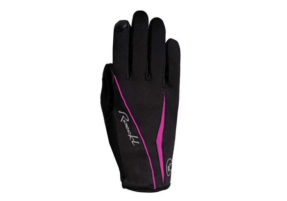 roeckl wanda damen handschuhe schwarz pink g nstig kaufen bei. Black Bedroom Furniture Sets. Home Design Ideas