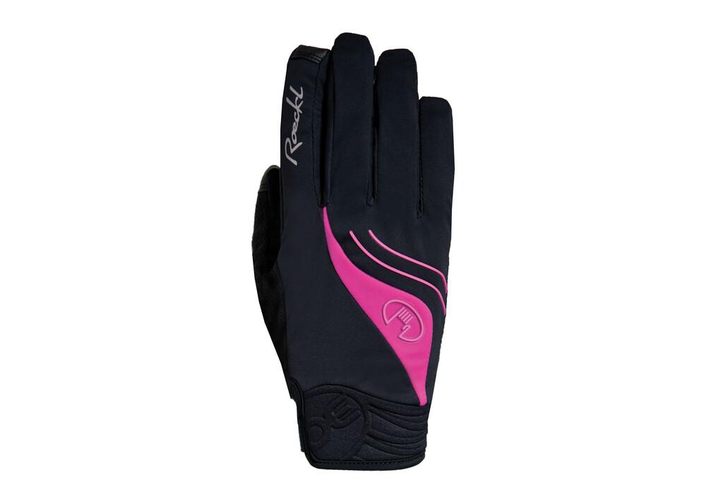 roeckl wigan damen handschuhe schwarz pink online kaufen. Black Bedroom Furniture Sets. Home Design Ideas