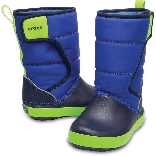 Crocs LodgePoint Schneestiefel Kinder blue jean/navy