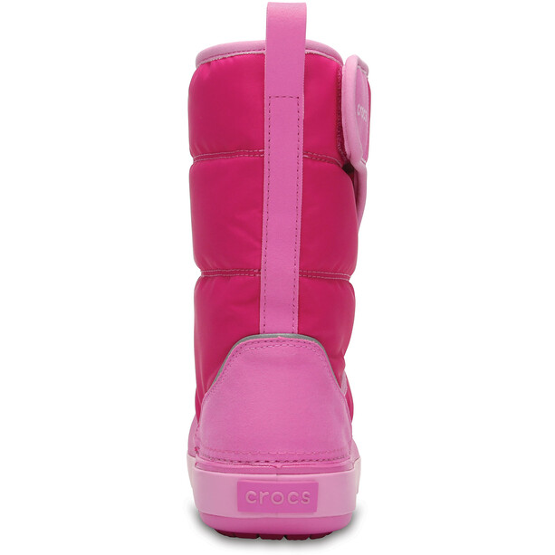 Crocs LodgePoint Schneestiefel Kinder candy pink/party pink