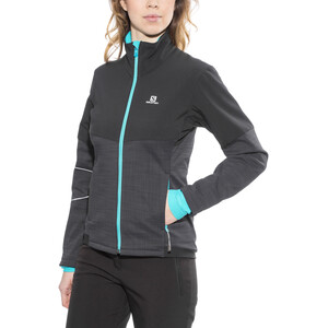 Salomon Elevate Softshell Jacke Damen black/blue bird black/blue bird