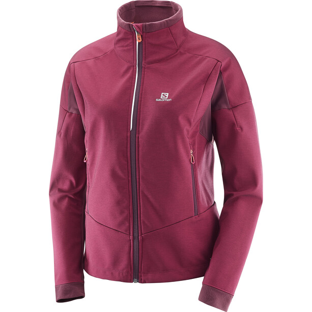 Salomon Equipe TR Jacke Damen beet red/fig