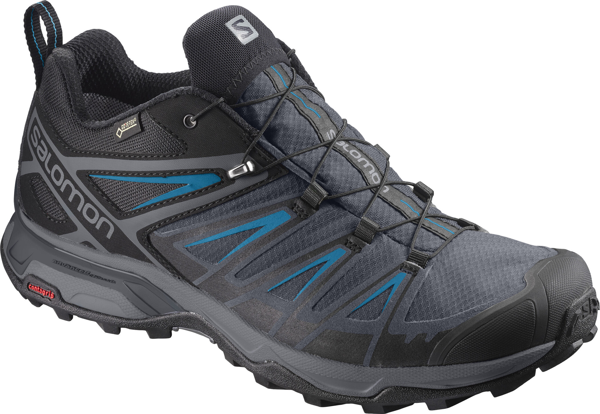 Salomon X Ultra 3 GTX Wanderschuhe Herren BlackIndia InkHawaiian Surf
