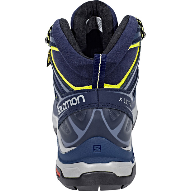 Salomon X Ultra 3 Mid GTX Schuhe Damen crown blue/evening blue/sunny lime