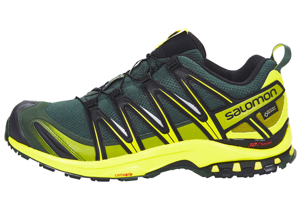 salomon xa pro 3d gtx chaussures de running homme jaune gris sur. Black Bedroom Furniture Sets. Home Design Ideas