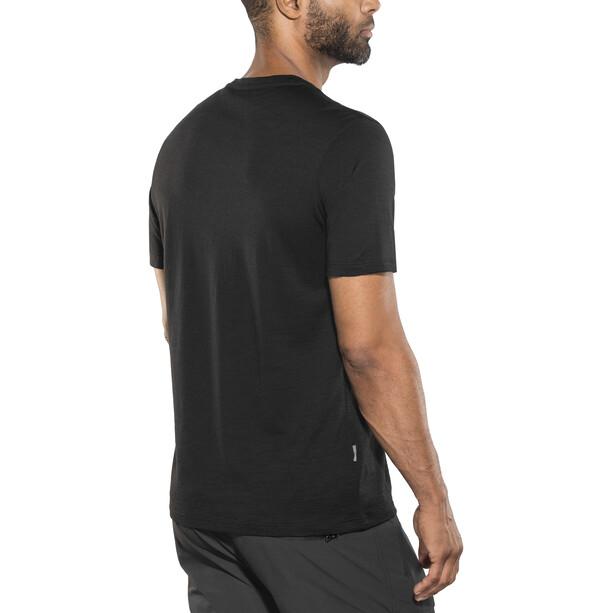 Icebreaker Tech Lite SS Crewe Shirt Herr black