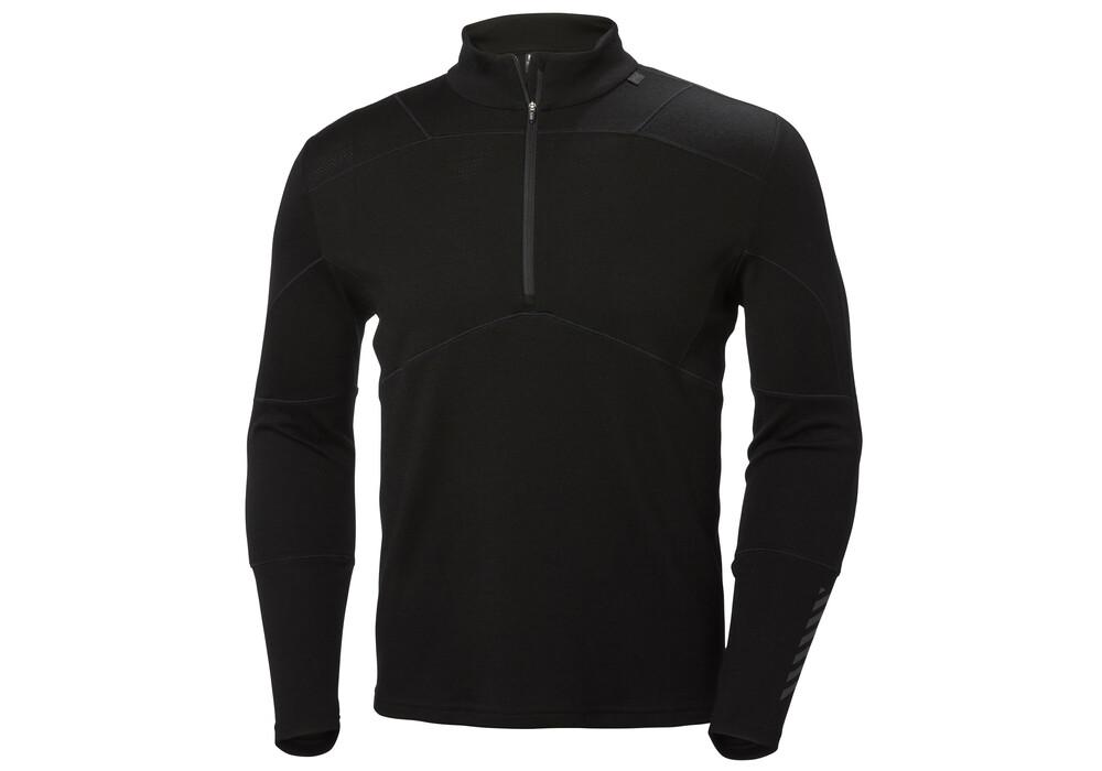helly hansen lifa sweat shirt homme noir sur. Black Bedroom Furniture Sets. Home Design Ideas