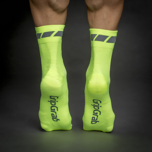 GripGrab Tricolore Regular Cut Socken 3-Pack black/white/fluo yellow