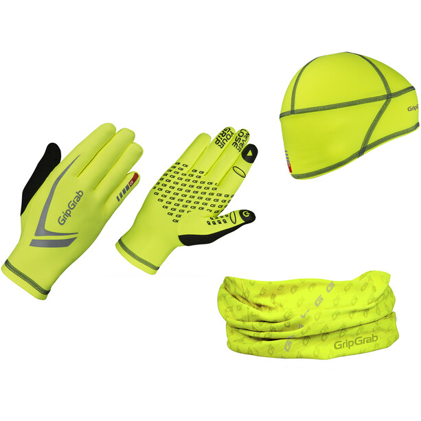 GripGrab Hi-Vis Running Essentials Multipack fluo yellow