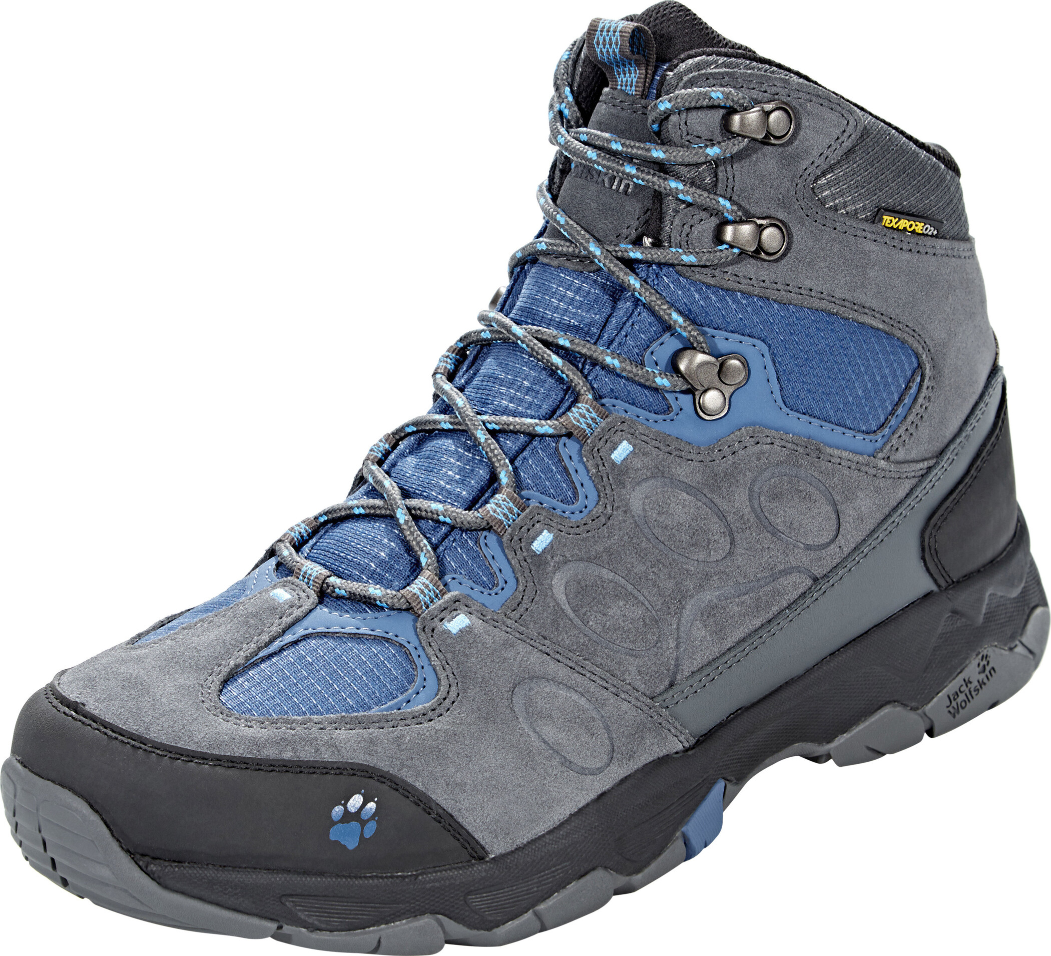 e574530162 Jack Wolfskin MTN Attack 5 Texapore Hiking Shoes Mid Cut Men ocean wave.jpg