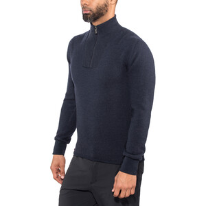 Woolpower 400 Zip Turtle Neck Herren dark navy dark navy
