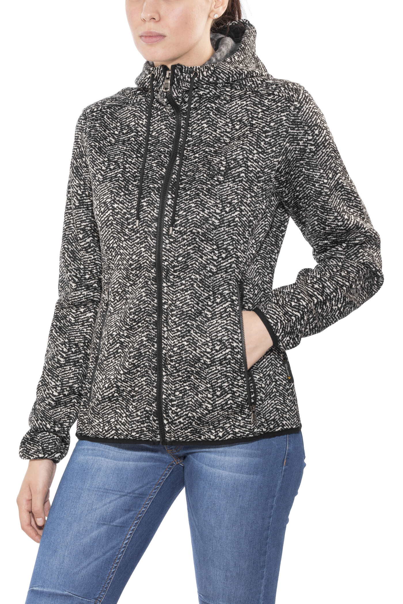 Jack Wolfskin Belleville Jacke Damen black all over