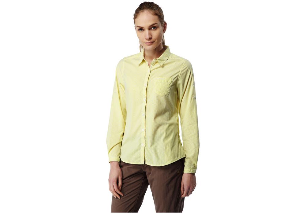 craghoppers nosilife shona chemise manches longues femme jaune sur. Black Bedroom Furniture Sets. Home Design Ideas