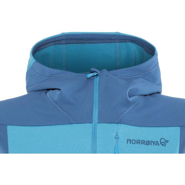 Norrøna Falketind Warm1 Stretch Zip Hoodie Damen blue moon
