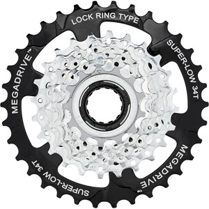 SunRace MFM4S Freewheel Cassette 7-speed svart/silver svart/silver