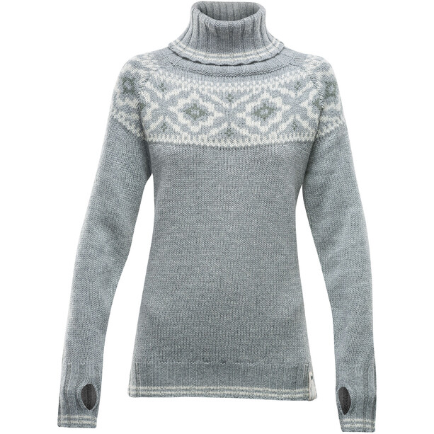 Devold Ona Round Sweater Dam grey melange