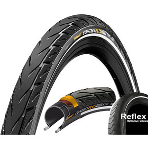 "Continental Contact Plus City Clincher Tyre 26x2.15"" E-50 Reflex black black"