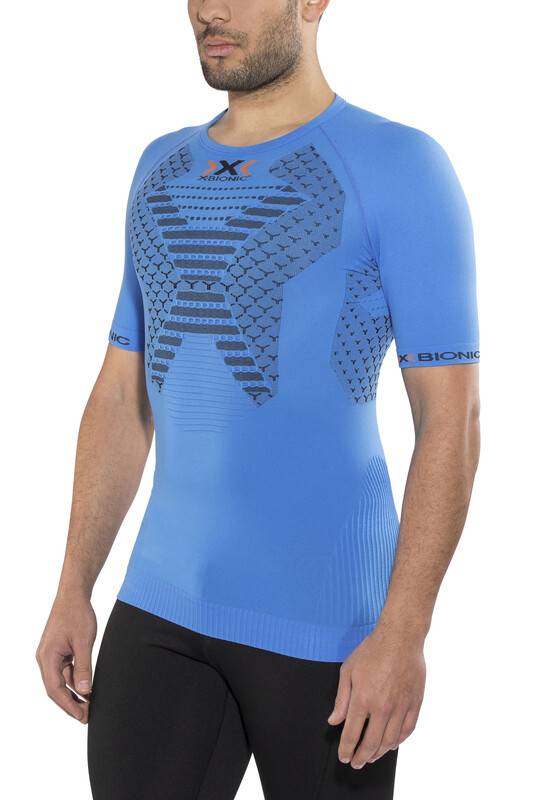 X-Bionic Twyce Running Shirt SS Men French Blue/Black M 2018 Kompressionsshirts