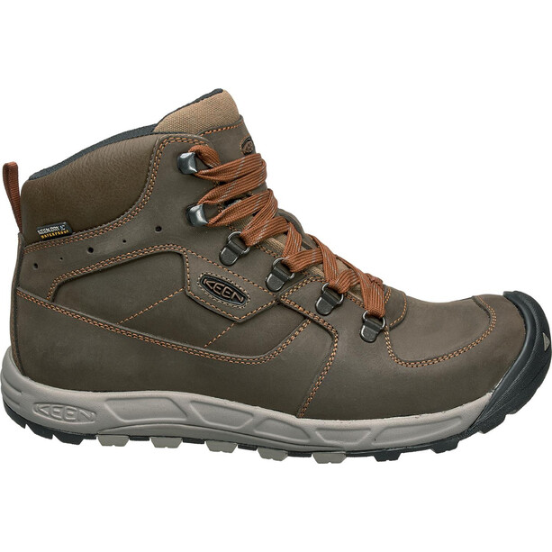 Keen Westward Leat WP Mid Shoes Herr dark olive/rust