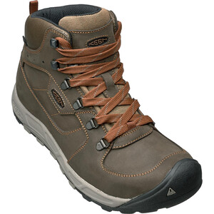 Keen Westward Leat WP Mid Shoes Herr dark olive/rust dark olive/rust