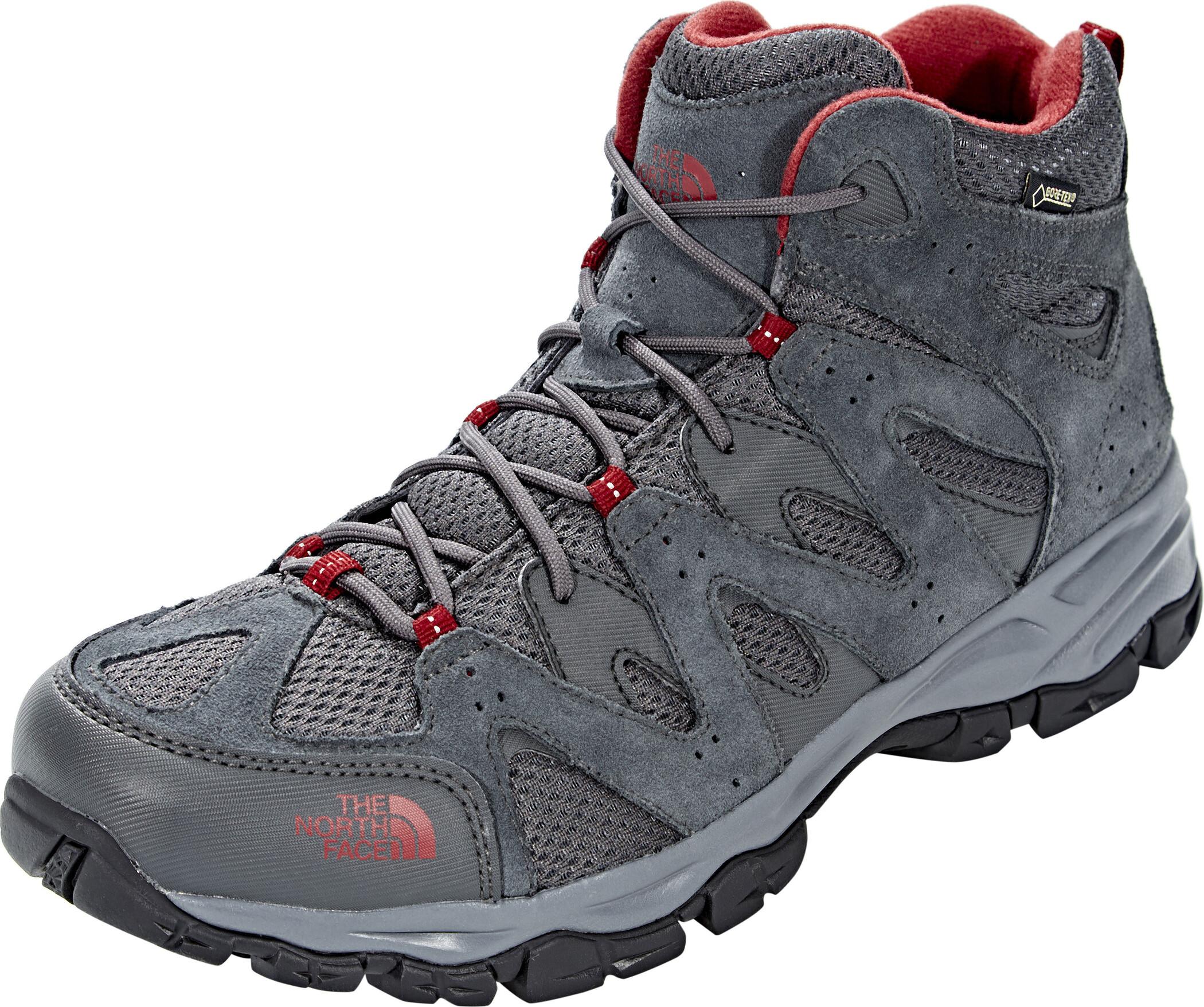 sale retailer cf874 0583f The North Face Storm Hike Mid GTX Shoes Men Dark Shadow Grey Rudy Red.jpg