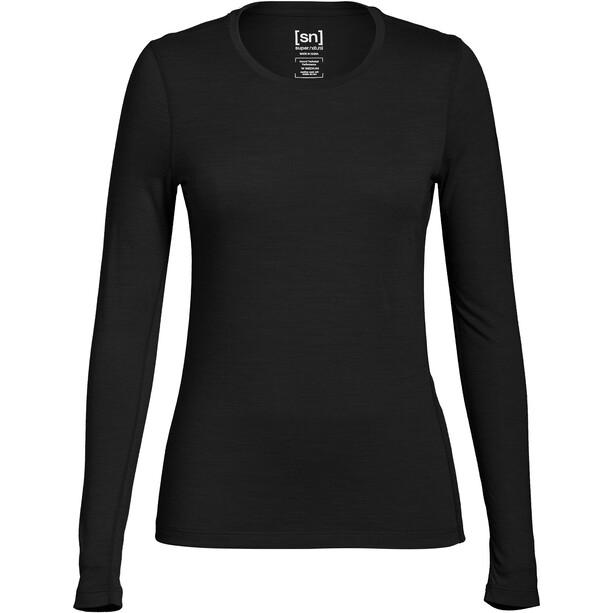 super.natural Base 175 LS Shirt Women, musta