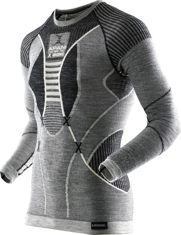 X-Bionic Apani Merino By Fastflow Long Sleeve Shirt RN Men Black/Grey/Ivory L/XL 2018 Unterhemden