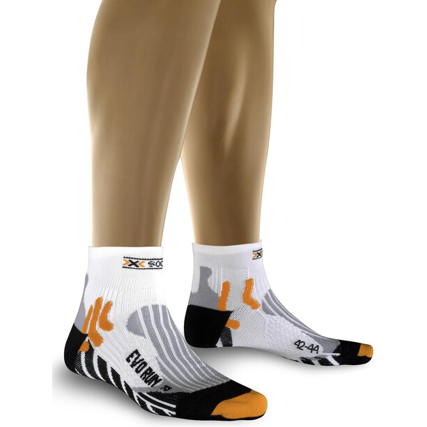 X-Bionic Evo Run Laufsocken white/black