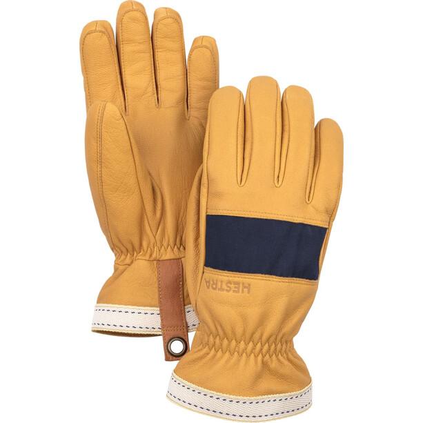 Hestra Njord Gloves 5-Finger marin/naturbrun
