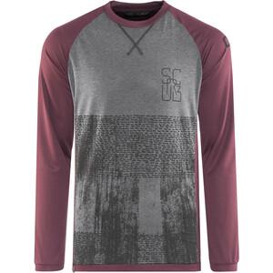 ION Scrub_Amp T-shirt à manches longues Homme, gris/violet gris/violet