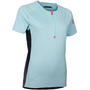 ION Traze Half-Zip Kurzarm T-Shirt Damen crystal blue crystal blue