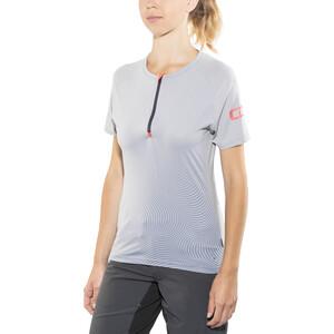 ION Traze Half-Zip Kurzarm T-Shirt Damen sleet sleet