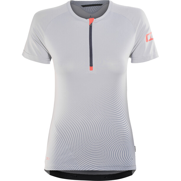 ION Traze Half-Zip Kurzarm T-Shirt Damen sleet