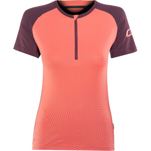 ION Traze Half-Zip Kurzarm T-Shirt Damen vinaceous vinaceous