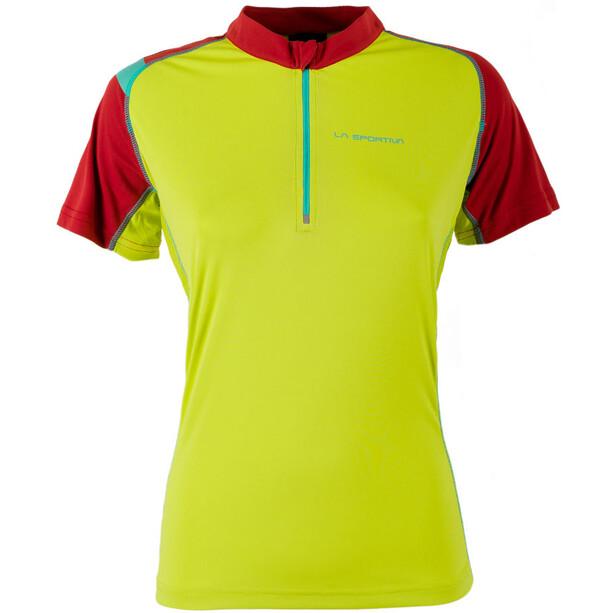 La Sportiva Forward Kurzarmshirt Damen sulphur/berry
