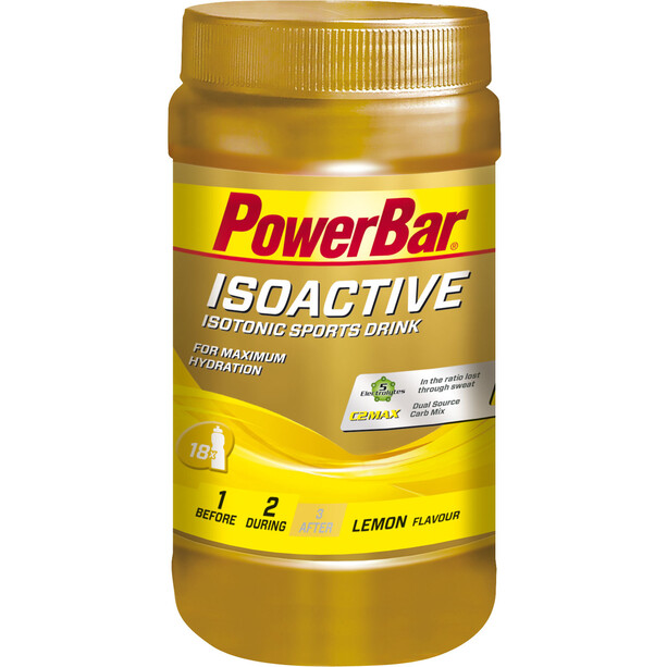 PowerBar Isoactive Isotonic Sports Drink Dose 600g Zitrone