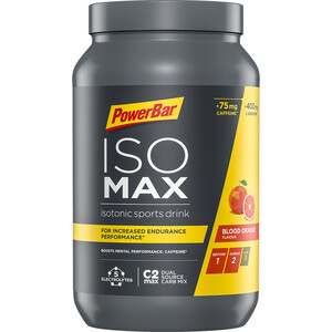 PowerBar Isomax Sports Drink Dose 1200g Blood Orange mit Koffein
