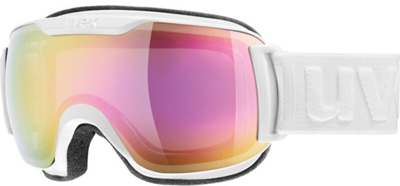 Downhill 2000 S Goggle White DL/FM Pink 2017 Goggles