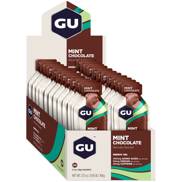GU Energy Gel Box 24 x 32g Mint Chocolate