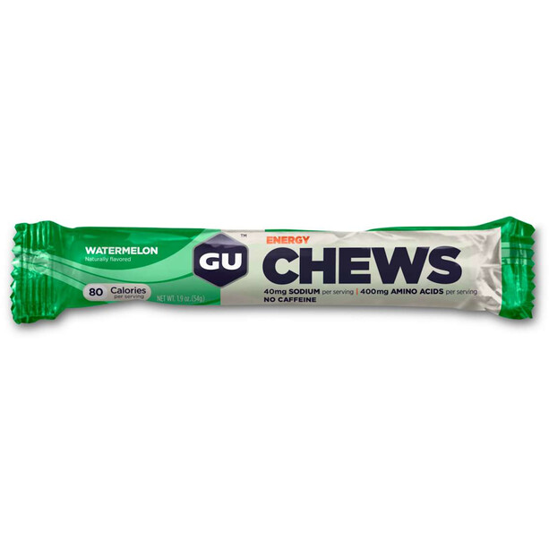 GU Energy Chews Test Paket 18x54g Wassermelone Erdbeere Heidelbeere Orange