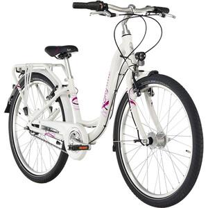 """Puky Skyride Light 24"""" Cykel 7-växlad Flickor vit/pink vit/pink"""