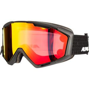 Alpina Panoma Magnetic Q+SM S1+S3 Lunettes de protection, noir/rouge noir/rouge
