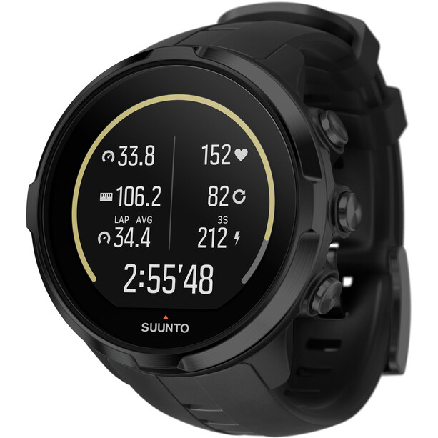 Suunto Spartan Sport HR GPS Multisport Kello, musta musta