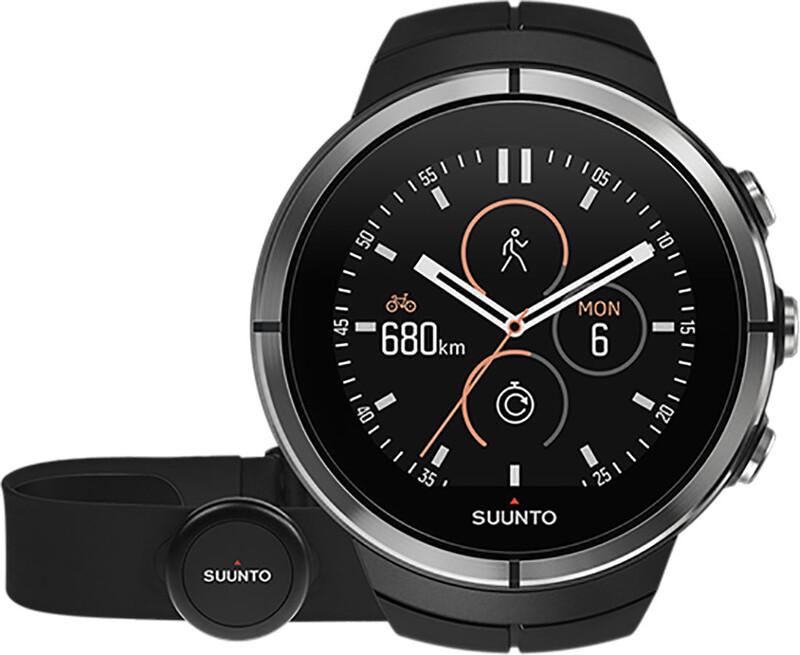 Suunto Spartan Ultra HR GPS Outdoor Watch Black  2018 Laufuhren und Brustgurte