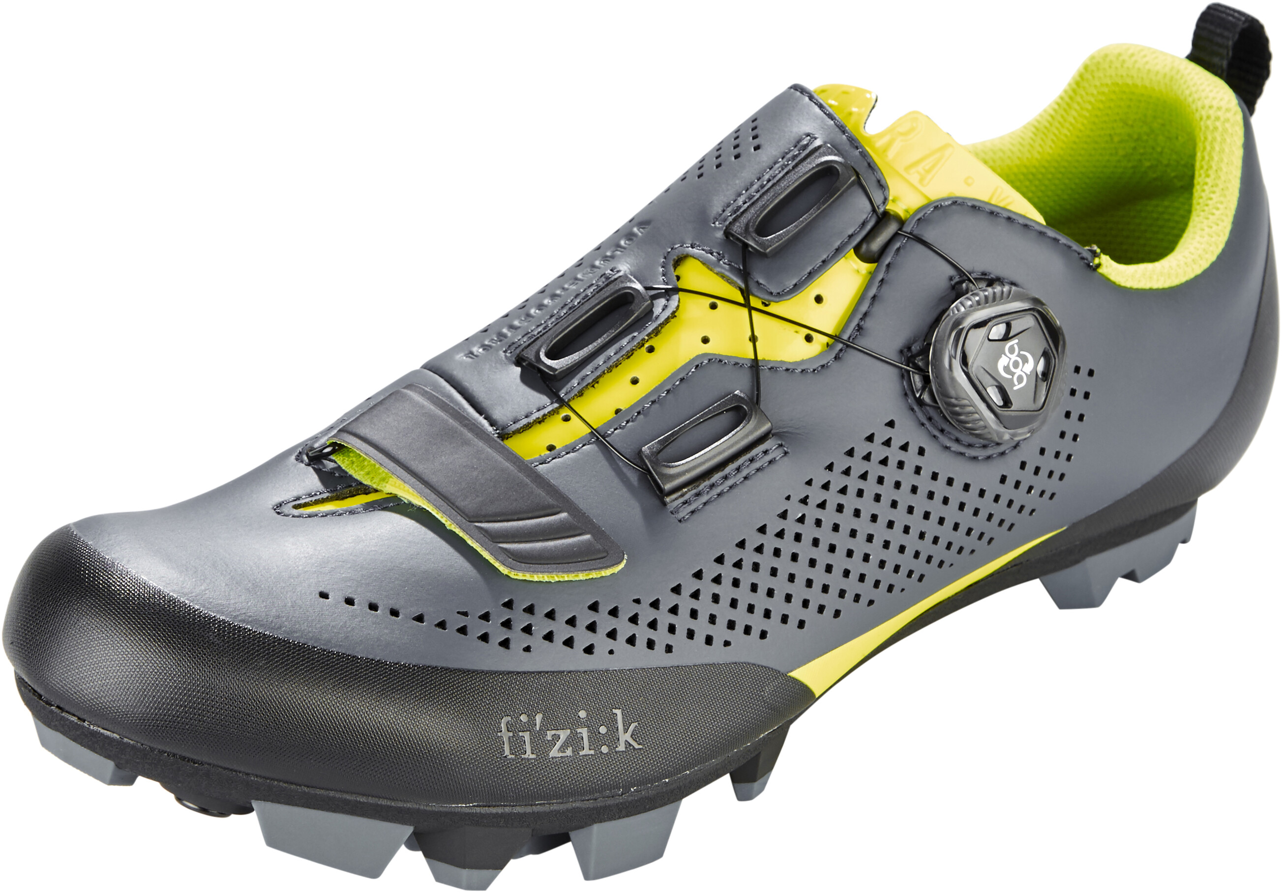 fizik terra x5 mtb schuhe herren grau gelb fluo g nstig. Black Bedroom Furniture Sets. Home Design Ideas