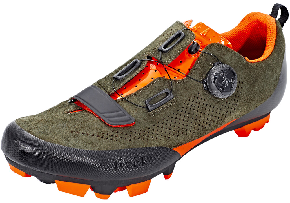 fizik terra x5 suede mtb schuhe herren gr n orange fluo. Black Bedroom Furniture Sets. Home Design Ideas